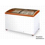 Морозильный ларь с гнутым стеклом Italfrost ЛВН 400 Г (СF 400 C) (красный)