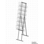 Стойка/стендлясетка из металлической сетки Гефест Стенд складной с дисплеем 7 газетниц