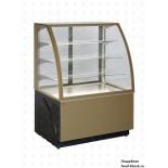 Кондитерская холодильная витрина UNIS Cool ALDAN BASIC 1000 золотая