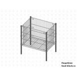 Стол для распродаж из металлической сетки Гефест корзина малая КРМ-01