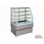 Кондитерская холодильная витрина UNIS Cool GEORGIA III 1000 SELF-SERVICE нержавеющая сталь
