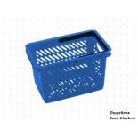 Покупательская пластиковая корзина VKF Renzel GmbH 20л, 1 ручка, синяя (RAL 5005)