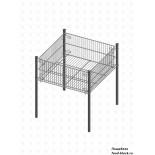 Стол для распродаж из металлической сетки Гефест Корзина средняя, глубина 255 (695х695х735 мм)