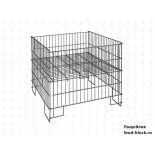 Стол для распродаж из металлической сетки Сетиз Корзина для распродаж 600х800х800