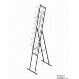 Стойка/стендлясетка из металлической сетки Гефест Буклетница складная с дисплеем 8 ячеек А4 вертикальная