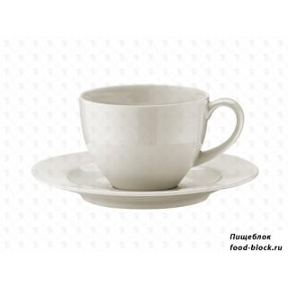 Столовая посуда из фарфора Bonna Чашка чайная с блюдцем Gourmet RIT01CFT (230 мл)