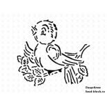 Кондитерский инвентарь Martellato Маска-трафарет для оформления тортов (птица)