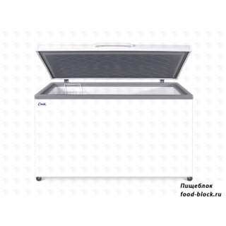 Морозильный ларь с глухой крышкой Снеж МЛК 500 (белый)