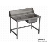 Стол и аксессуар для посудомоечной машины Vortmax СВ12077ВХЛ с отверстием для сбора отходов