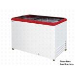 Морозильный ларь с прямым стеклом Italfrost ЛВН 400 П (СF 400 F) (красный)