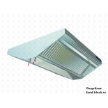 Островной вытяжной зонт Техно-ТТ МВО-0,7МС-1,4Ц (с подсветкой, 2 лампы)