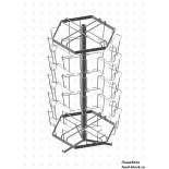 Стойка/стендлясетка из металлической сетки Гефест Буклетница настольная вращающаяся 30 ячеек А5