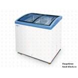 Морозильный ларь с гнутым стеклом Italfrost ЛВН 200 Г (СF 200 C) (синий)