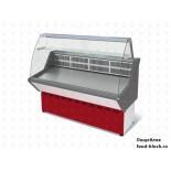 Холодильная витрина Марихолодмаш ВХС-1,0 Нова (с гнутым стеклом, нержавейка)