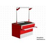 Холодильный стол для мяса EQTA ПДв 1,2 RAL 3004/9006 без запасников