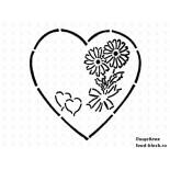 Кондитерский инвентарь Martellato Маска-трафарет для оформления тортов (сердце с цветком)