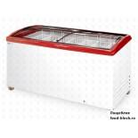 Морозильный ларь с гнутым стеклом Italfrost ЛВН 600 Г (СF 600 C) (красный)