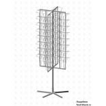 Стойка/стендлясетка из металлической сетки Гефест Буклетница вращающаяся 64 ячейки А4