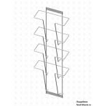 Стойка/стендлясетка из металлической сетки Гефест Дисплей 4 ячейки А4 вертикальный