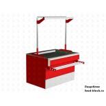 Холодильный стол для мяса EQTA ПДв 1,5 RAL 3004/9006 без запасников