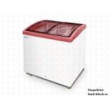 Морозильный ларь с гнутым стеклом Italfrost ЛВН 200 Г (СF 200 C) (красный)