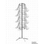 Стойка/стендлясетка из металлической сетки Гефест Буклетница вращающаяся 16 полок А4