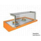 Мармит 2-х блюд Техно-ТТ встраиваемый модуль ванна для льда с холодильным агрегатом ВЛ-1355БХА