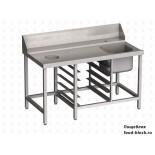 Стол и аксессуар для посудомоечной машины Vortmax СВ15077ВХЛ с отверстием для сбора отходов
