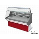 Холодильная витрина Марихолодмаш ВХС-1,2 Нова (с гнутым стеклом, нержавейка)