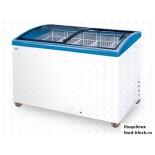 Морозильный ларь с гнутым стеклом Italfrost ЛВН 400 Г (СF 400 C) (синий)