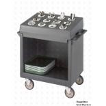 Пластиковая тележка и шпилька  Cambro Тележка TDCR12 401 (для подносов, тарелок и столовых приборов)