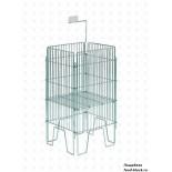 Стол для распродаж из металлической сетки Сетиз Корзина для распродаж 820х820х800