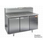 Холодильный стол для пиццы HiCold тип HT модель PZ2-11/GN (камень) для пиццы