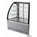 Кондитерская холодильная витрина Марихолодмаш Veneto VS-UN, нержавейка (угол наружный), раздвижная дверь