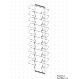 Стойка/стендлясетка из металлической сетки Гефест Дисплей 10 ячеек А4 горизонтальный