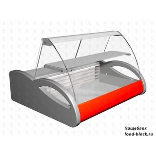 Горизонтальная барная витрина Полюс холодильная ВХСн-1,5 Арго