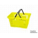 Покупательская пластиковая корзина VKF Renzel GmbH 20 л, 2 ручки, желтая (RAL 1021)