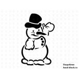 Кондитерский инвентарь Martellato Маска-трафарет для оформления тортов (снеговик)