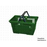 Покупательская пластиковая корзина VKF Renzel GmbH 20 л, 2 ручки, зеленая (RAL 6029)