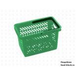 Покупательская пластиковая корзина VKF Renzel GmbH 20л, 1 ручка, зеленая (RAL 6029)