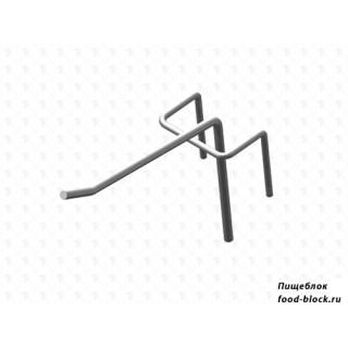Стойка/стендлясетка из металлической сетки Гефест Крючок штыревой 75 мм