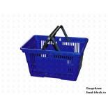 Покупательская пластиковая корзина VKF Renzel GmbH 20 л, 2 ручка, синяя (RAL 5005)