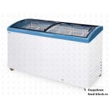 Морозильный ларь с гнутым стеклом Italfrost ЛВН 500 Г (СF 500 C) (синий)