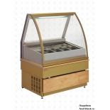 Холодильная витрина для мороженого UNIS Cool GEORGIA III 1000 ICE CREAM золотая