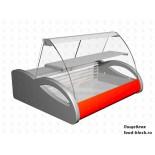 Горизонтальная барная витрина Полюс холодильная ВХС-1,5 Арго