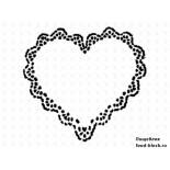 Кондитерский инвентарь Martellato Маска-трафарет для оформления тортов (сердце)
