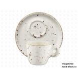 Столовая посуда из фарфора Bonna Grain чашка с блюдцем эспрессо GRA BNC 01 ESP