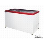 Морозильный ларь с прямым стеклом Italfrost ЛВН 500 П (СF 500 F) (красный)