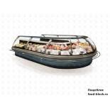 Холодильная витрина JBG-2 LDG-1,25-04 (агр) RAL7016