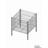 Стол для распродаж из металлической сетки Гефест Корзина средняя, глубина 510 (695х695х735 мм)